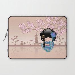 Japanese Keiko Kokeshi Doll Laptop Sleeve