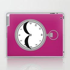 Mustache clock print Laptop & iPad Skin
