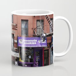 Stores and business in MacDougal Street, NYC Coffee Mug