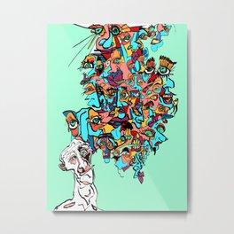 Brain Drain Metal Print