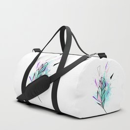 Polygonal Feather with Watercolor Duffle Bag