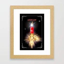 Light App. Framed Art Print