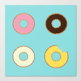 Four Doughnuts (Bitten version) Canvas Print