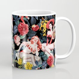 Floral and Pin-Up Girls IV Coffee Mug