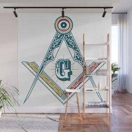 Square and Compass - freemasonry Wall Mural