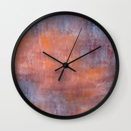 Orange Color Fog Wall Clock