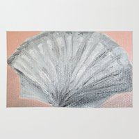seashell Area & Throw Rugs featuring Seashell by Lark Nouveau Studio