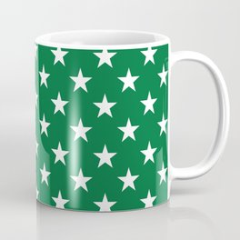 Stars (White & Olive Pattern) Coffee Mug