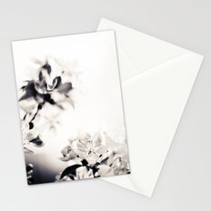 Black and White Flowers 2 Stationery Cards