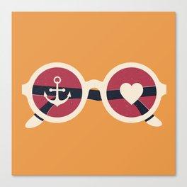 Sailor Heart Canvas Print