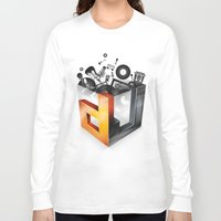 dj Long Sleeve T-shirts featuring DJ by DeanDesign