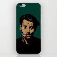 johnny depp iPhone & iPod Skins featuring johnny depp by pexkung