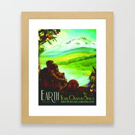 Vintage poster - Earth Framed Art Print