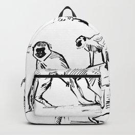 Monkey Green Backpack