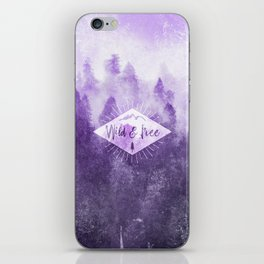 Wild And Free - Ultraviolet Purple Forest iPhone Skin