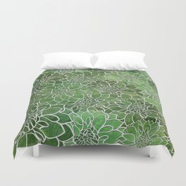 Dahlia Flower Pattern 4 Duvet Cover
