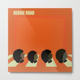 Hedgie road Metal Print