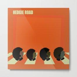 Hedgie road Metal Print