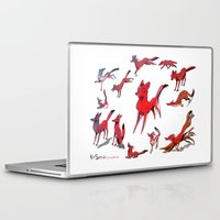 foxes Laptop & iPad Skins featuring Foxes by Kit Seaton