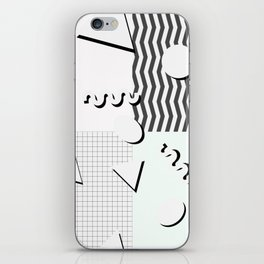 Pale 80s Pattern iPhone Skin