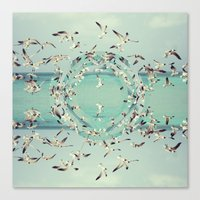 flight Canvas Prints featuring Flight.  by witchoria