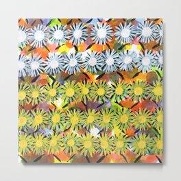 Rainbow Flower Pattern Metal Print