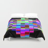 computer Duvet Covers featuring Hello Computer by NatalieCatLee