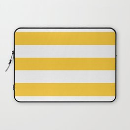 Sunglow - solid color - white stripes pattern Laptop Sleeve