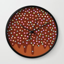Dripping Melted chocolate Glaze with sprinkles Wall Clock