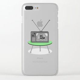 Kapow TV Clear iPhone Case