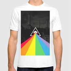 Floydian collage PinkFloyd White MEDIUM Mens Fitted Tee