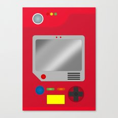 Pokedex Canvas Print