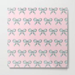 Cute Bow Metal Print
