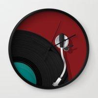 dj Wall Clocks featuring DJ by Rceeh