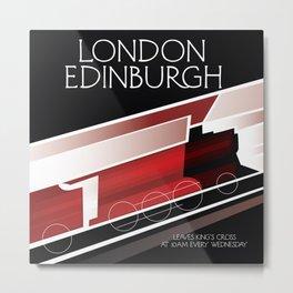 London Edinburgh Locomotive vintage style poster Metal Print