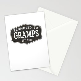 Promoted To Gramps Est 2021 Stationery Cards