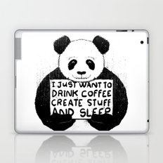 I Just Want To Drink Coffee, Create Stuff and Sleep Laptop & iPad Skin