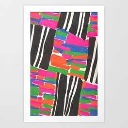 NEON GEO Art Print