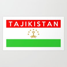 flag of Tajikistan Art Print