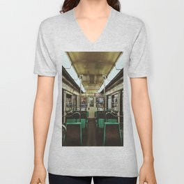 Paris Metro cab Unisex V-Neck