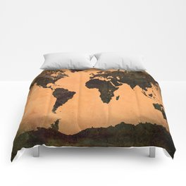 Abstract Earth Science Map Comforters