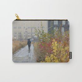 Walking in the rain in New York Carry-All Pouch