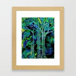 Trees in Threes. Framed Art Print