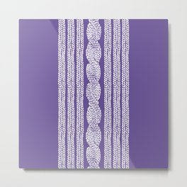 Cable Stripe Violet Metal Print