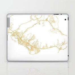 HONOLULU HAWAII CITY STREET MAP ART Laptop & iPad Skin
