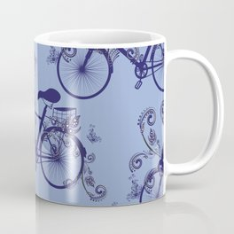 Bicycle and Floral Ornament Coffee Mug