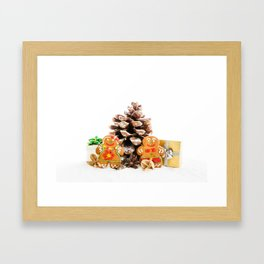 Ginger cookies Framed Art Print