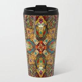 Mandala Sacred Rams - Dark Version Travel Mug