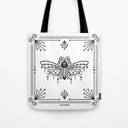 Death's Head Hawkmoth – Black Tote Bag