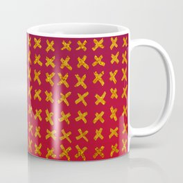Red and violet ombre with X marks Coffee Mug
